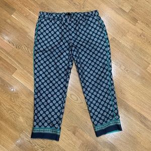 J. Crew 100% silk cropped ancle pants
